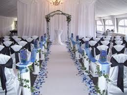 Blue Wedding Decorations Easy Royal White
