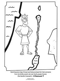 Kids Coloring Page From Whats In The Bible Featuring King David 2 Samuel 7