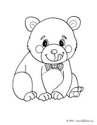 Kawaii Animal Coloring Pages Bear Page More Forest Animals Sheets On Cute