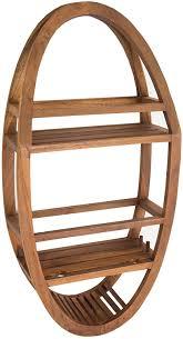 Teak Bathtub Tray Caddy by Amazon Com Patented Moa Oval Teak Shower Organizer Home U0026 Kitchen