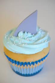 Shark Bite Cupcakes