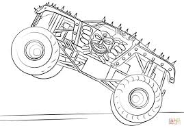 100 Truck Pages Remarkable Free Monster Coloring To Print Max D Page