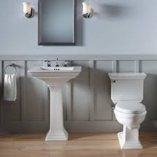 bathroom white kohler sinks plus silver faucet with single handle