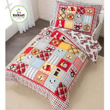 KidKraft Fire Truck Toddler Bedding 77003