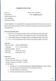 Resume Format Job Application Download For Sample 6 Formal Cna Instructor