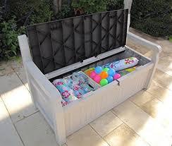 Rubbermaid Patio Storage Bench 3764 by Garden Storage Bench Keter Eden Outdoor Plastic Waterproof Box