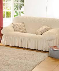 housse de canaper housse gaufrée bi extensible fauteuil et canapé saumon textile