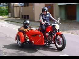 Vintage Side Car And Old Original Vespa