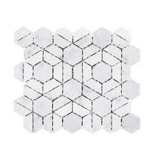 jeff lewis bronson 9 1 2 in x 11 in x 8 mm marble mosaic tile