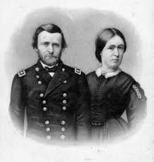 Description Portrait Of Civil War General Ulysses S Grant And His Wife Julia Dent They Met In Missouri 1844 When Was Stationed With