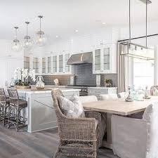 stunning kitchen with light grey kitchen island white shaker