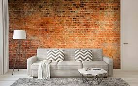 vließ fototapete tapete wandbild braune backsteinmauer