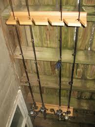 fishing rod holder by echofive lumberjocks com woodworking