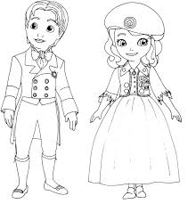 James And Sofia The First Disney Coloring Pages