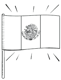 Awesome Printable Flag Coloring Page Free Download At In Mexico With Key Mexican Pdf