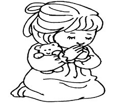 Boy Praying Coloring Page Free Pages Of