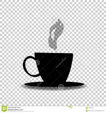 Download Black Silhouette Of Tea Or Coffee Cup With Smoke Stock Vector