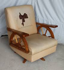 100 Cowboy In Rocking Chair Bargain Johns Antiques Furniture Wagon Wheel