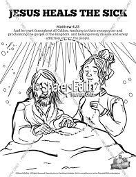 Jesus Heals The Sick Sunday School Coloring Pages