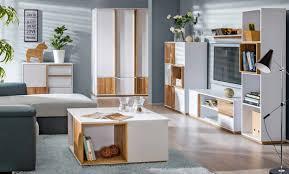 6 teiliges wohnzimmer designer wohnwand set komplett sideboard schrank vitrine