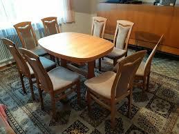 esstisch esszimmertisch ausziehbar mit 8 stühlen