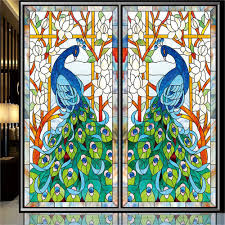 Artscape Magnolia Decorative Window Film by Amazon Com Ostepdecor Custom Peacock Translucent Non Adhesive