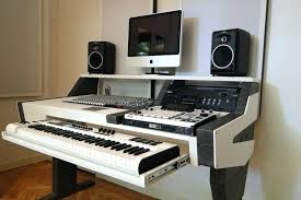 Music Studio Desk Fully Custom Built This Is Really Cool Furniture Ideas