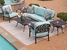 Cast Aluminum Patio Furniture With Sunbrella Cushions by Cadiz 4 Pc Cast Aluminum Sofa Group Chair King