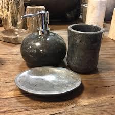 badset marmor rund schwarz