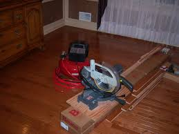 Cut Laminate Flooring With Miter Saw by Hardwood Floor Installation And Trim Work All About The House