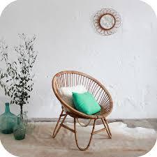 chaise boule fauteuil rotin vintage d278 fauteuil en rotin rotin et ées 50