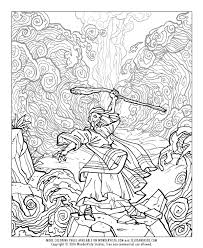 BIBLE COLORING PAGE 5 Baby Moses