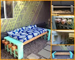 DIY Cinder Bars Patio Furniture