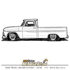 100 C10 Chevy Truck 002087TRN0001_1966Pickup Clip Art