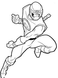 Power Rangers Ninja Storm Bare Hand Fighting Style Coloring Page