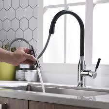 küchenarmatur 2 strahlen wasserhahn küche ausziehbar 360 drehbar armatur spültischarmatur mischbatterie küche schwarz einhebelmischer küche