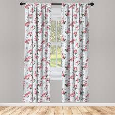 gardine fensterbehandlungen 2 panel set für wohnzimmer schlafzimmer dekor abakuhaus romantisch frühlings blumen kaufen otto