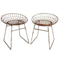 100 1960 Vintage Metal Outdoor Chairs Pair Of Cees Braakman Metal Stools 20th C Furniture Design Mostly