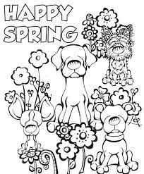 Spring Coloring Pages Happy