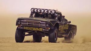Watch This Ford F-100 Trophy Truck Jump Around In The Desert