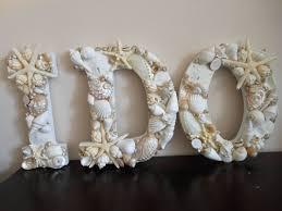 Seashell Christmas Tree Ornaments by Beach Wedding Seashell Letters I Do White Seashell Letters