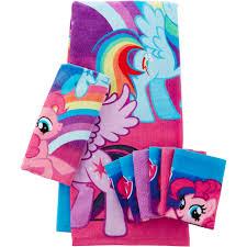 My Little Pony Bed Set by Hasbro U0027s My Little Pony Wash Cloth Set 6 Piece Walmart Com