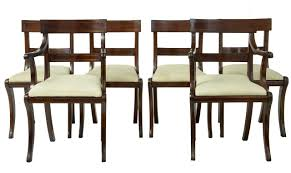 Debenham Antiques - 1920's SET OF 6 REGENCY INFLUENCED MAHOGANY ... Set Of 8 Mahogany Ladder Back Ding Chairs Loveday Antiques West Saint Paul Vintage Finds Art Deco And Retro Fniture Of The 50s 60s Riva 1920 Boss Executive Table 810 Seater Walnut Heals French Louis Xiv Style Circa 1920s Art Deco Console Antique Fniture Sold 4 Tudor New Upholstery Elegant Pair Felix Kayser Antrosophical Ash Wood Chairs From Sothebys Home Designer Fniture John Hutton 0415antiqueshtml Mad For Midcentury More American Martinsville Info