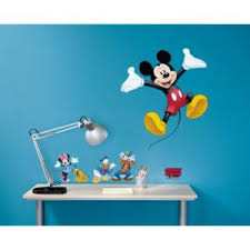 stickers pas cher 6 stickers mickey mouse et ses amis disney multicolor nc pas