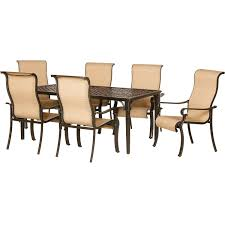 Brigantine 7-pc Dining Set (Aluminum Table + 6 Sling Chairs) - BRIGANTINE7PC Patio Chairs At Lowescom Outdoor Wicker Stacking Set Of 2 Best Selling Chair Lots Lloyd Big Cushions Slipcove Fniture Sling Swivel Decoration Comfortable Small Space Sets For Tiny Spaces Unique Cana Qdf Ding Agio Majorca Rocker With Inserted Woven Alinium Orlando Charleston Myrtle White Table And Seven Piece Monterey 3 0133354 Spring China New Design Textile
