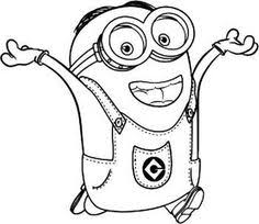 Dave The Minion Is Happy Coloring Pages Printable And Book To Print For Free Find More Online Kids Adults Of