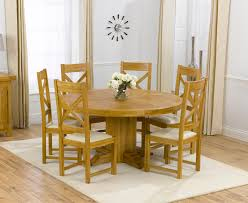 Round Oak Table With 4 Chairs Dining Room For Good Kitchen Tables