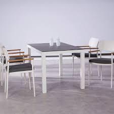 weiße 4 sitzer essgruppe mit eckigem tisch sitzgruppe tenno