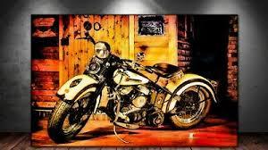 150x90 leinwand bild er pop graffiti harley davidson