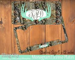 Realtree Floor Mats Mint by Mint Camo Antlers Monogram License Plate Frame Holder Deer Metal